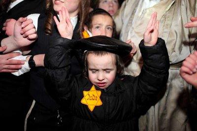 Ultra Orthodox Jews protest in Jerusalem